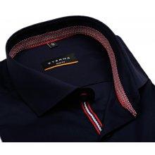Eterna Slim Fit Stretch Non Iron – tmavomodrá košile s červeným vnitřním  límcem a manžetou efdf94c23d