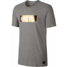 Nike FC FOIL TEE šedá/zlatá