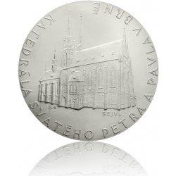 Česká mincovna Platinová investiční medaile katedrála Sv. Petra a Pavla v Brně stand 500 g