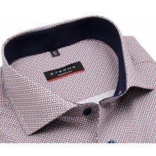 Eterna Modern Fit – košile s červeno-modrým vzorem a vnitřním límcem - extra  prodloužený c0aa20d722