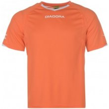 Diadora Havana T Shirt Mens Orange/White