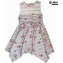 b58403013608 Kugo dětské dívčí šaty s beruškami K9823 světle růžová