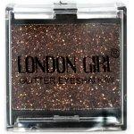 LONDON GIRL Flitrové oční stíny Mono Bronzové GLITTER Eyeshadow 12 4,5 g