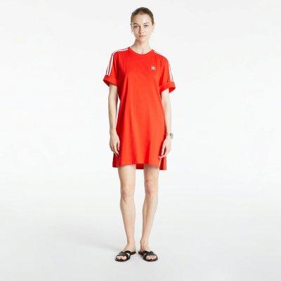 Adidas Originals dámské šaty Adicolor Classics Roll-Up červená