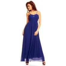 Francouzské modré plesové šaty 220952e079