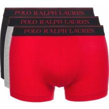 f3c2b01198 Boxerky 3 ks Polo Ralph Lauren Černá Červená Šedá