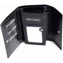 Valentini Dámská peněženka velká klasická kožená černá 19 x 2 x 11 SV00-563231-09KUZ