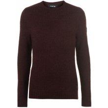 Firetrap Textured pletený svetr pánské, Burgundy