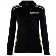 Kawasaki mikina na zip s kapucí KRT black green fb6bc9095df