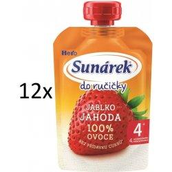 Sunárek Do Ručičky Jablko jahoda 100% ovoce 100 g