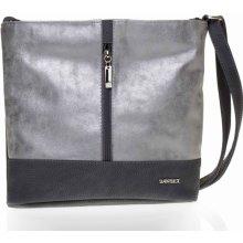 Dawidex Crossbody kabelka LD070-3 šedo stříbrná