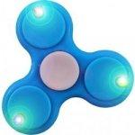 FIDGET SPINNER 3 LED metal svítící modrý zelený