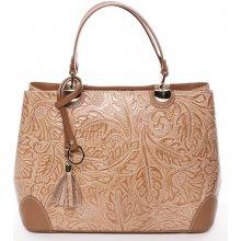 3d55c3486 luxusní kožená kabelka se vzory Raina koňaková