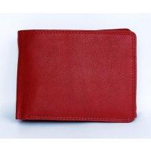 pánská celá kožená peněženka velmi kvalitní červená