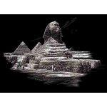 Škrábací obrázky 40 x 30 cm Sfinga pyramida