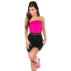 KouCla dámské elegantní šaty s řetízkem 2034 růžová od 350 Kč ... e3cbbe1de5