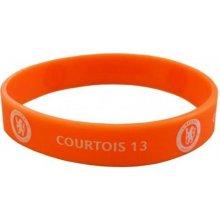 Náramek silikonový Chelsea FC Courtois oranžový šířka E30silCHCO CurePink
