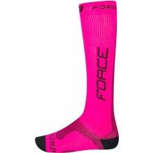 Force ponožky ATHLETIC PRO KOMPRES, růž.-černé
