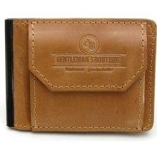 Gentleman s Boutique Handy Kožená pánská dolarovka medová f1f5eeea2fd