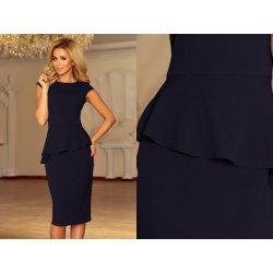 6e65b378480 Numoco elegantní midi šaty s volánkem Dolly námořnická alternativy ...