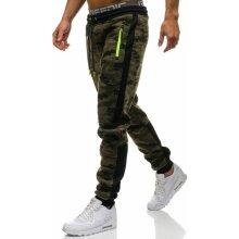 Vícebarevné pánské maskáčové jogger tepláky Bolf 3783G
