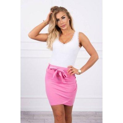 Dámská sukně provázaná v pase MI8984 světle růžová