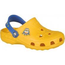 Cogui dětské pantofle Little frog 8701 yellow/royal