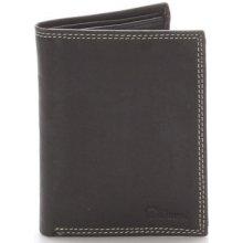 Delami Peněženky Pánská kožená peněženka černá Matt Černá
