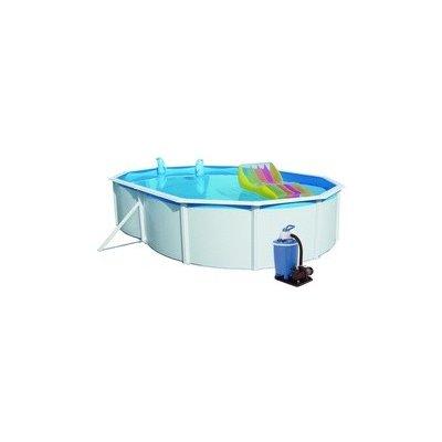 Bazén Steinbach Nuovo de Luxe oval 5,5x3,66x1,2 m s kovovou konstrukcí, vč. pískové filtrace Clean 75
