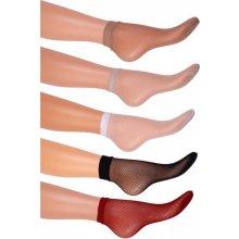 Forte Sieťované ponožky Biela