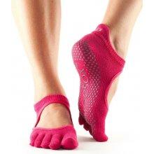 6f67eed465d ToeSox prstové ponožky na jógu Bellarina - Fuchsia