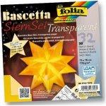 Folia Origami Hvězda Bascetta - žlutá, 32 archů 15x15cm