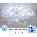 TFY NO34960 Vánoční LED osvětlení řetěz 20LED, 3m, CW studená bílá
