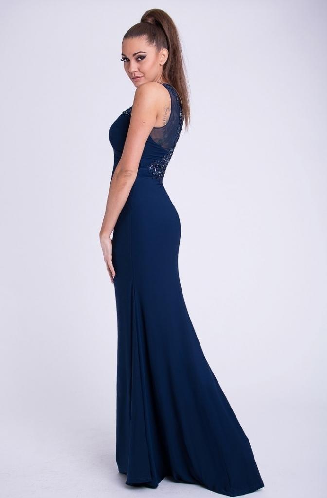 b7eae3706a8 Eva   Lola dámské luxusní dlouhé plesové šaty tmavě modrá alternativy -  Heureka.cz