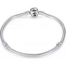 Náramek Love potažený stříbrem Bamoer PA1104