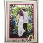 Malování podle čísel na plátno zamilovaný pár