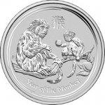 Lunární Stříbrná investiční mince Year of the Monkey Rok Opice 10 Oz 2016