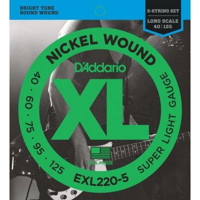 D'Addario EXL220-5 + 1 rok prodloužená záruka zdarma