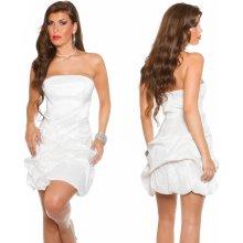 43401c382f KouCla Koktejlové bandeau šaty s růžemi bílé