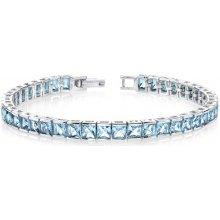Eppi stříbrný náramek ledově modrými topazy Evanga BR32141