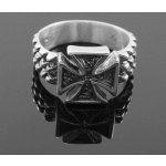 Prsten motorkářský, s motivem válečného kříže, Maltézský kříž.-prst1