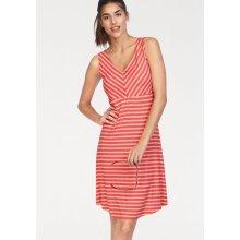 98c8f14f6541 Tom Tailor letní šaty s proužky červená koralová