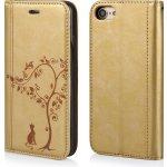 Pouzdro Global technology Flip Woman iPhone 7/8 zlaté