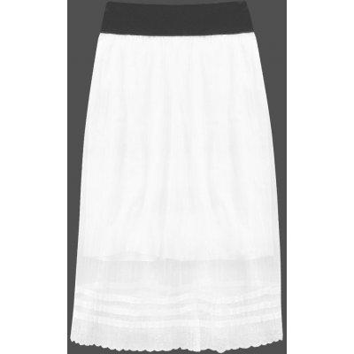 Prodyšná plisovaná sukně 97ART bílá