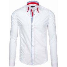 f30a6044eab Bolf pánská elegantní Košile s dlouhým rukávem Bílá 6859