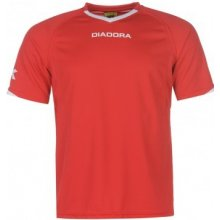Diadora Havana T Shirt Mens Red/White
