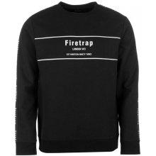 Firetrap Tape Crew Sweater, black, S