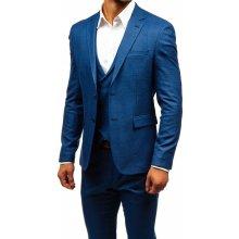 ef508b00f2 Bolf pánský oblek s vestou 18300 modrá