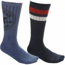 Converse ponožky 2 Pack Men S Fashion Crew 360 Chuck Patch Modrá bbc8b8ec19