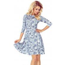 Numoco dámské šaty s růžemi a kolovou sukní 49-14 f513421f37